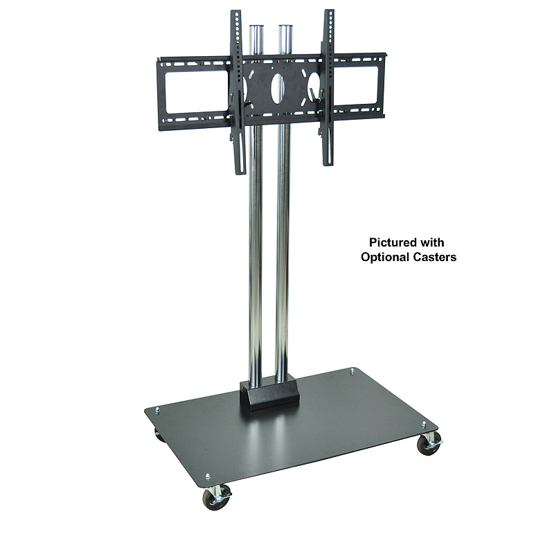 H wilson mobile commercial tv pedestal for 26 60 inch - Mobile tv industrial ...