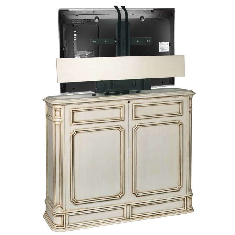 tv lift cabinet crystal pointe 360 swivel lift for 32 to. Black Bedroom Furniture Sets. Home Design Ideas