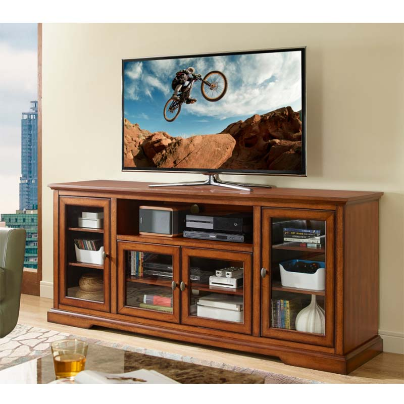 View A Larger Image Of The Walker Edison 70 Inch Highboy TV Cabinet (Rustic  Brown