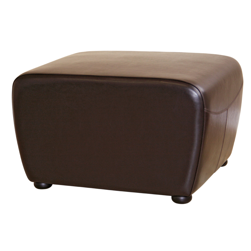 Wholesale Interiors Bicast Leather Ottoman Brown Y 051