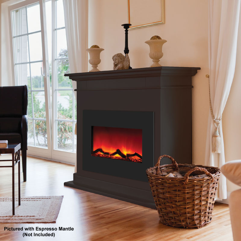 Amantii Zero Clearance Electric Fireplace w 29x23 in ...
