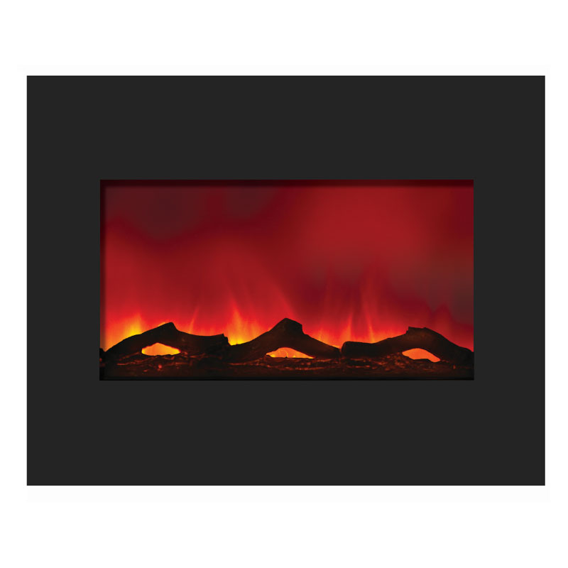Amantii Zero Clearance Electric Fireplace W 32x26 In Black Glass Surround Zecl 30 3226