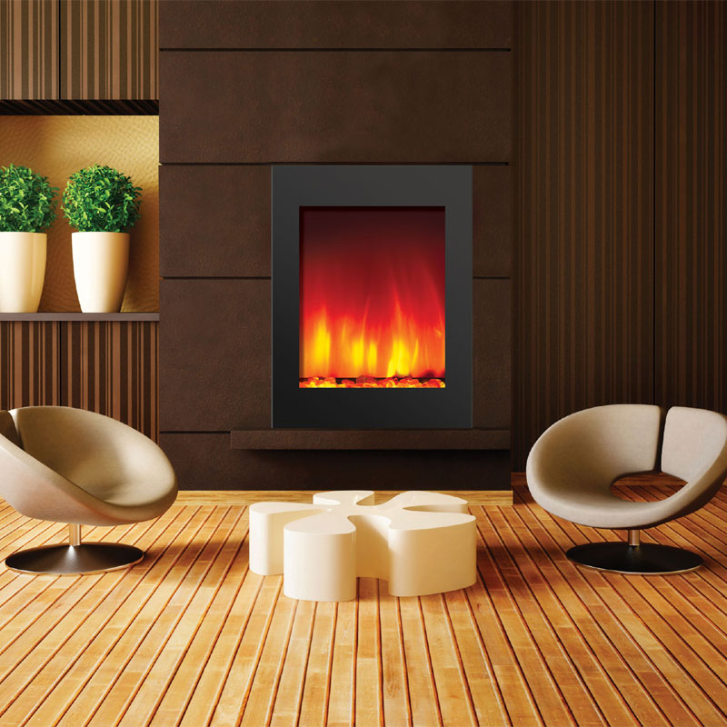 Amantii Zero Clearance Electric Fireplace W 29x39 In Black Glass Surround Zecl 2939