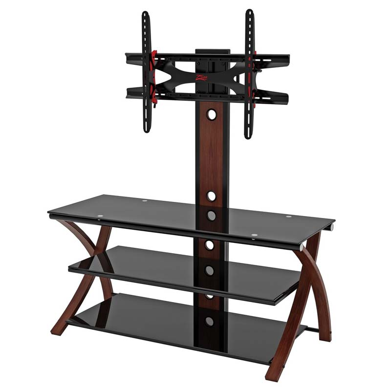 Z Line Designs Makena 3 In 1 Black Glass 60 TV Stand With