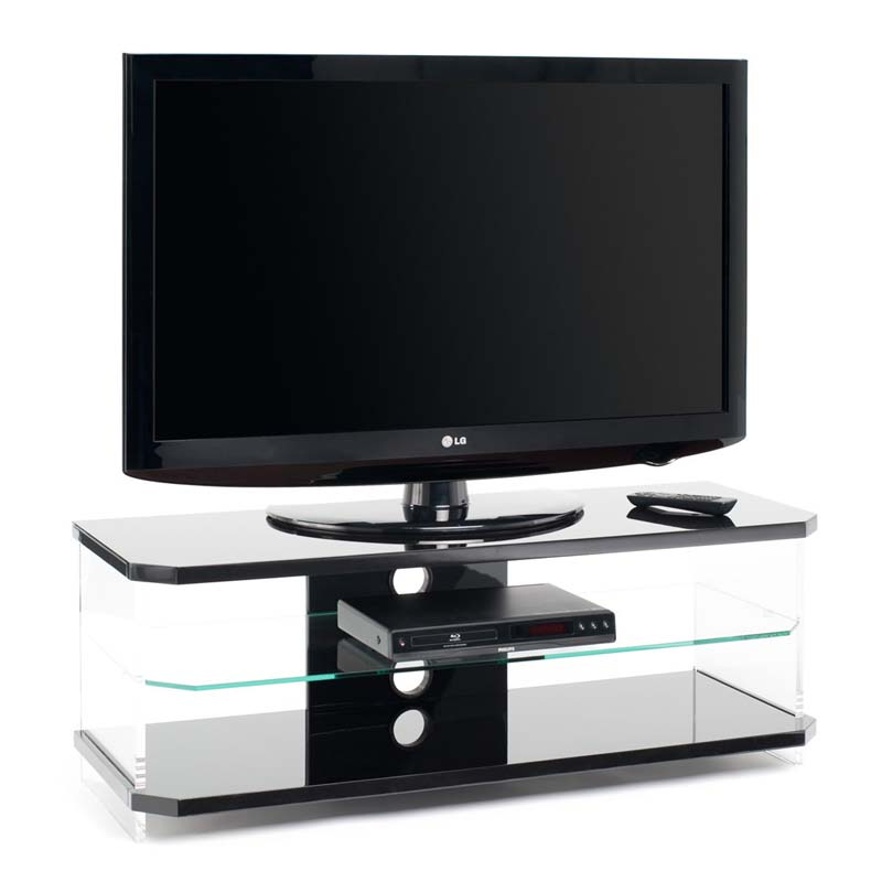 Techlink Air Series 55 In Tv Stand Black Acrylic And