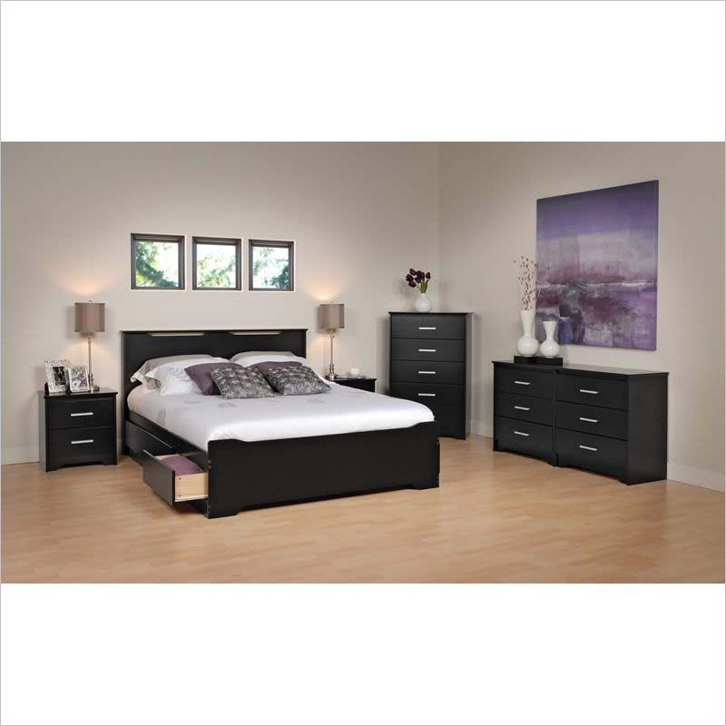 Prepac Coal Harbor Queen Size Mate's Platform Storage Bed with 6 ...
