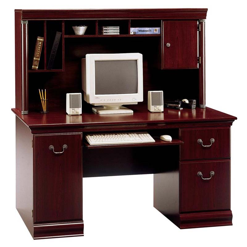 Bush Birmingham Collection 60 Executive Desk With Hutch