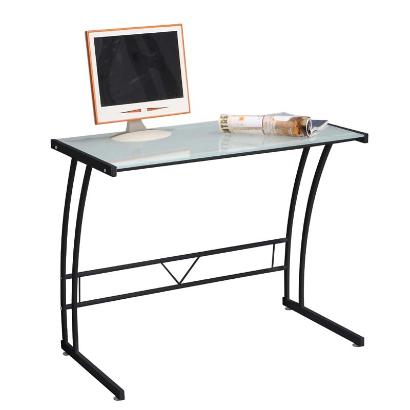 View a larger image of the LumiSource Sigma Glass Computer Desk (Black