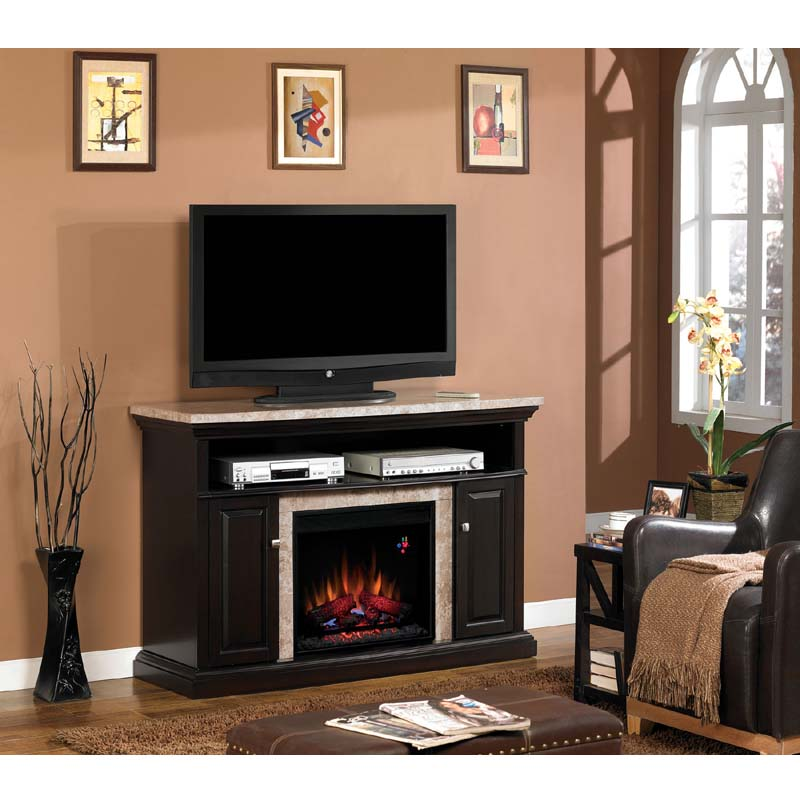 Fireplace Design entertainment center with fireplace insert : Classic Flame Brighton Media Mantel with Electric Fireplace Insert ...