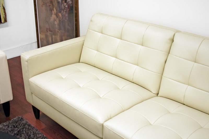 Wholesale Interiors Caledonia Modern Cream Leather Sofa Set  1197 2seater DU017 L016 1197 3seater DU017 L016