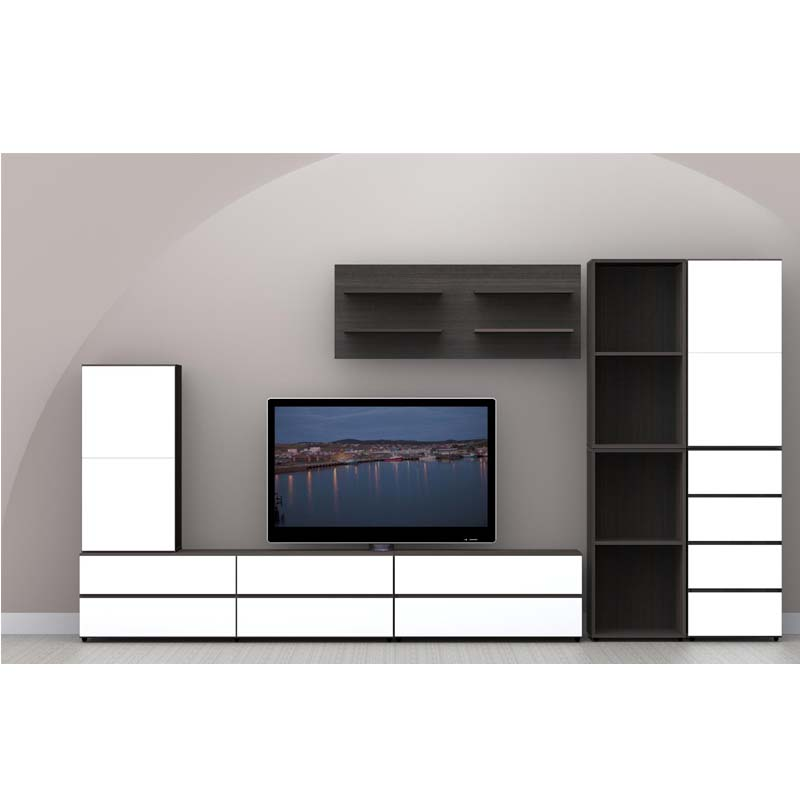 nexera allure collection decorative floating wall shelves ebony - Nexera