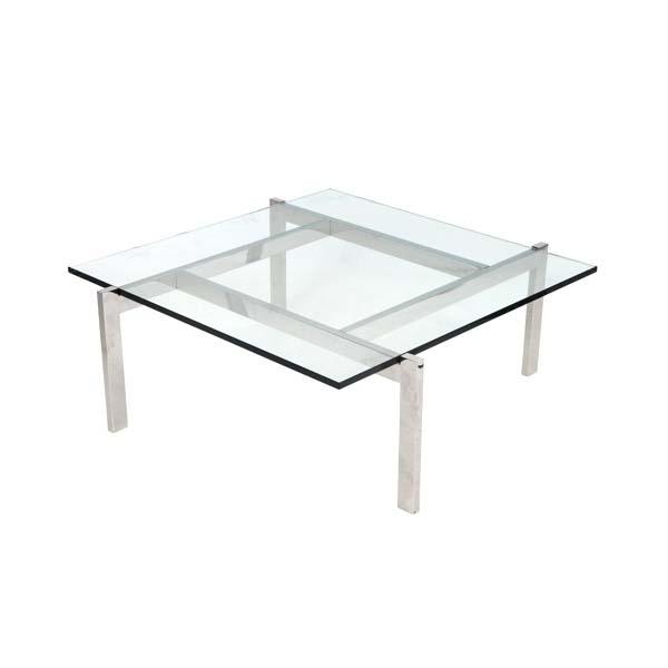 Lumisource cosmopolitan geometric coffee table clear glass for Geometric coffee table