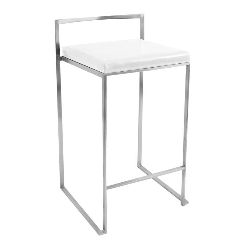lumisource stackable fuji counter stool white cs fuji w