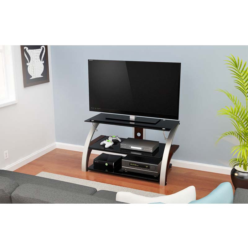 Z Line Elecktra 40 Inch Tv Stand With Black Glass Chrome