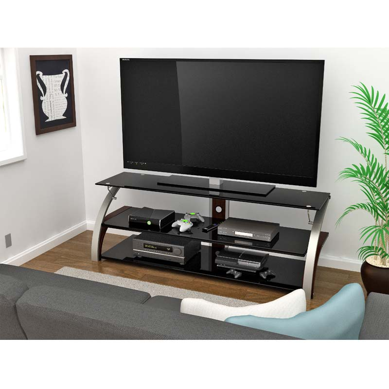 Z Line Designs Elecktra 67 Inch Tv Stand With Black Glass
