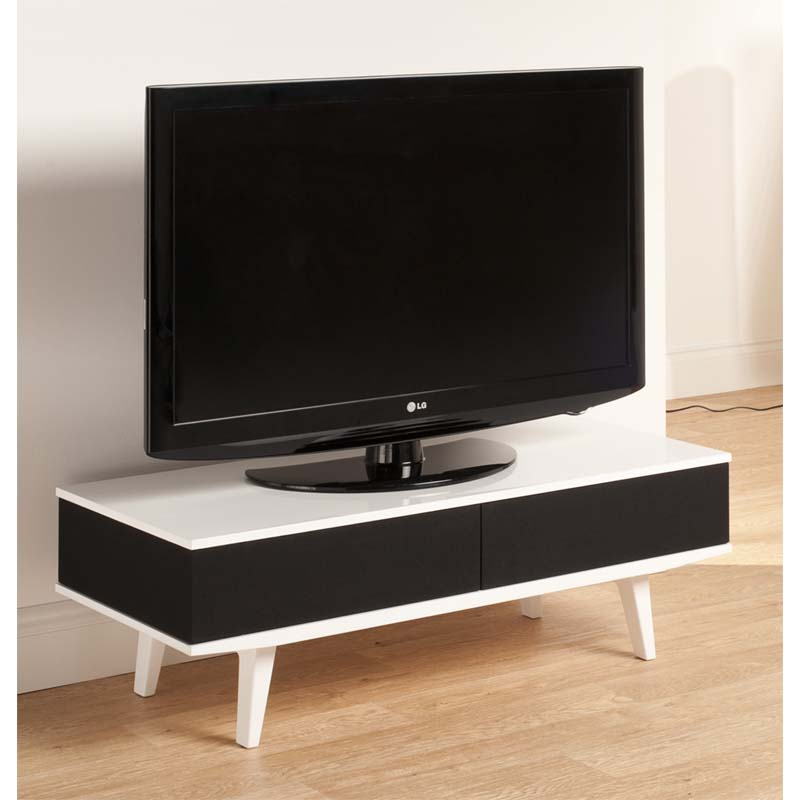 Techlink Fabrik 55 In Tv Stand With Mesh Doors White And