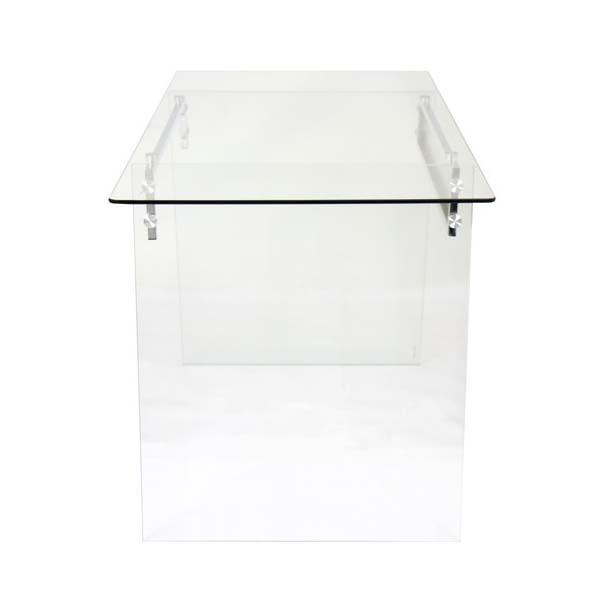 lumisource glacier office desk clear glass ofd tm glace