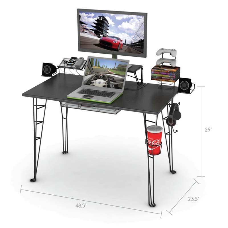 Atlantic Gaming Center Desk Black