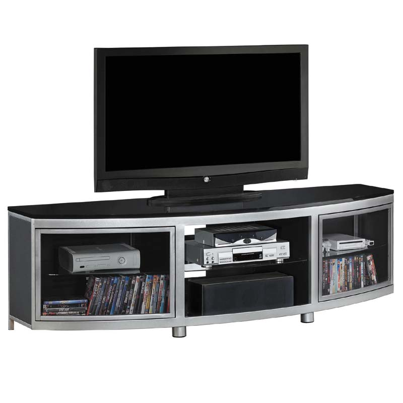 Tresanti Gotham 72 inch TV Stand with Black Glass Top ...