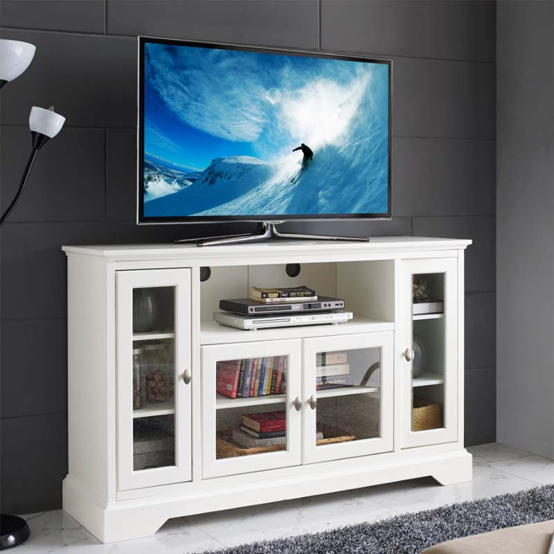 Walker Edison 55 Inch Highboy Tv Cabinet White W52c32wh