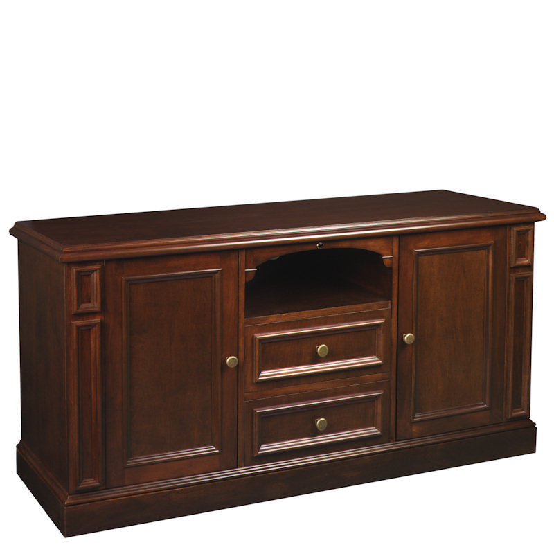 American Quality Furniture Hudson Real Wood 60 In Tv Stand Warm Brown At006334