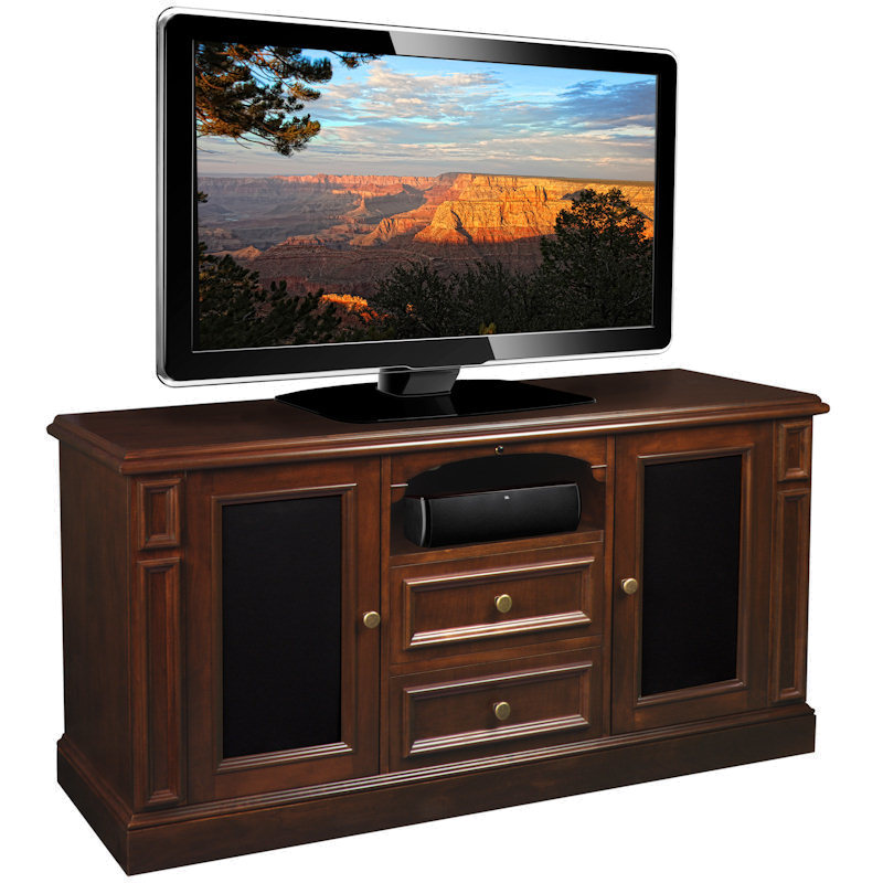 American quality furniture hudson real wood 60 in tv stand for Furniture quality lumber