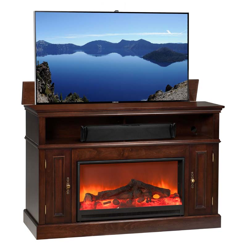 Fireplace Cabinets: TV Lift Cabinet Huntington Fireplace Lift For 40 To 60