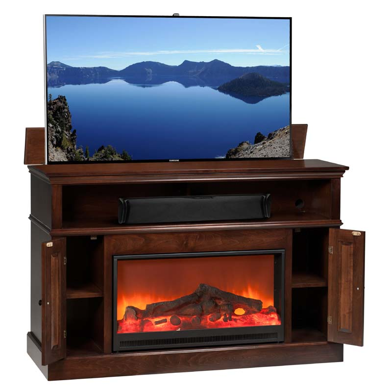 TV Lift Cabinet Huntington Fireplace Lift for 40 to 60 ...