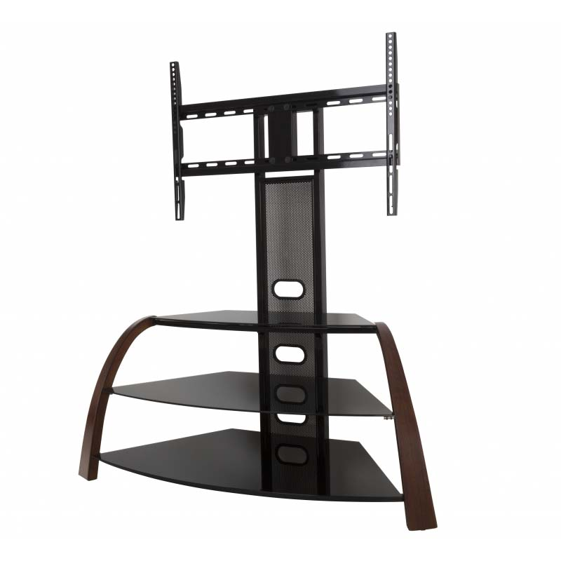 avf kingswood 32 to 55 inch tv stand with attached mount black fsl1050kinw a. Black Bedroom Furniture Sets. Home Design Ideas