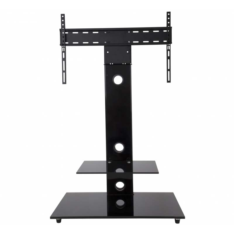 avf lesina 32 to 55 inch tv stand with attached mount black fsl700leb a. Black Bedroom Furniture Sets. Home Design Ideas