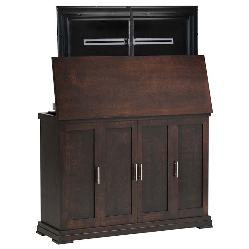 tv lift cabinet linton tv lift for 42 to 65 inch screens espresso at006474. Black Bedroom Furniture Sets. Home Design Ideas