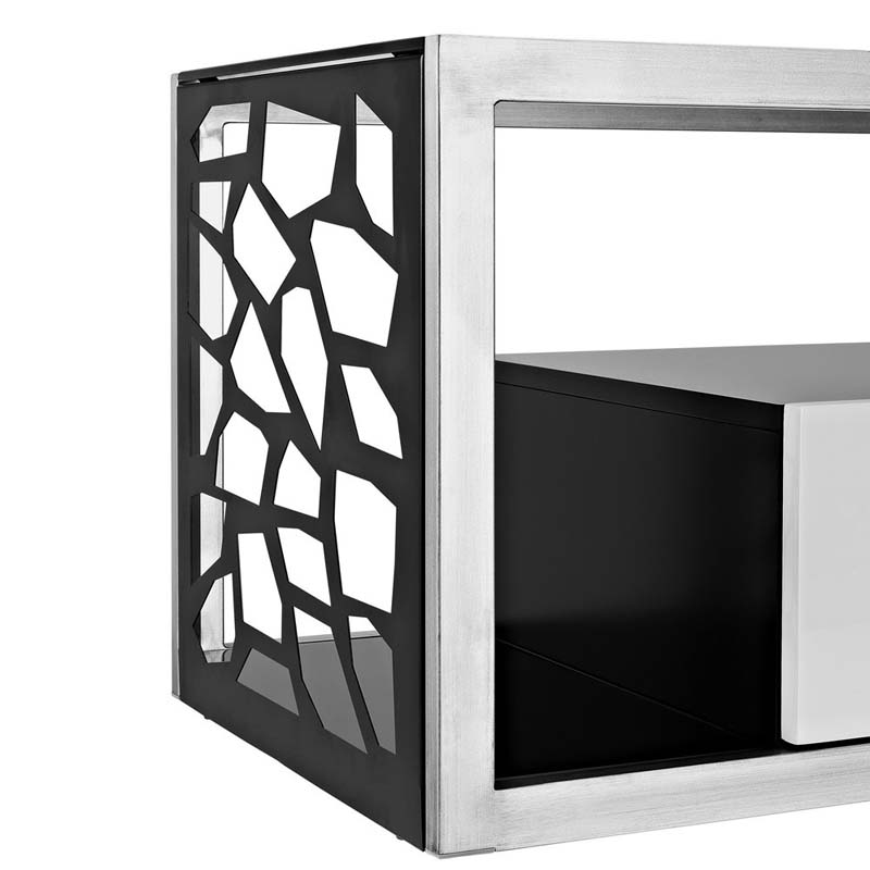 Walker Edison Modern Mosaic 70 Inch Tv Stand Steel And