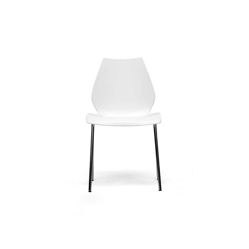 Wholesale interiors overlea modern white plastic dining for White plastic dining chair