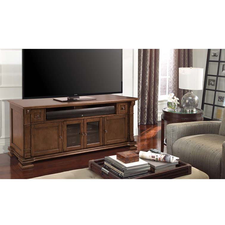 Bello Elegant Solid Wood Tv Cabinet For 75 Inch Tvs Mocha Pr36