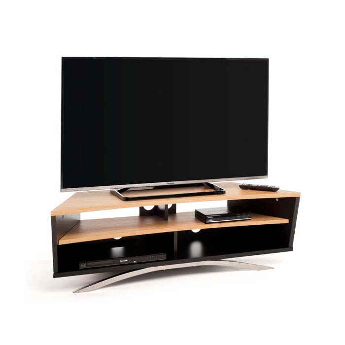 Techlink Prisma Series 65 In Corner Tv Stand Black And