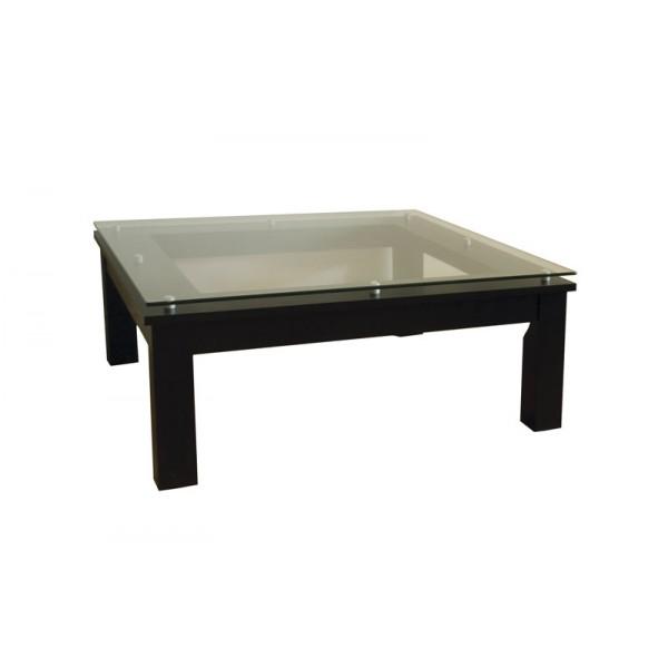 plateau square glass coffee table black frame clear glass sl tcs 35 x 35 b. Black Bedroom Furniture Sets. Home Design Ideas