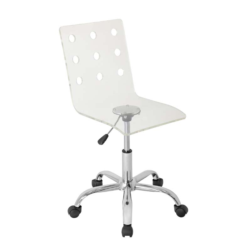 LumiSource Swiss Clear Acrylic puter Chair OFC TW SWISS CL