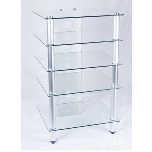 RTA Tier One Designs Glass Audio Component Rack Clear or Black ...