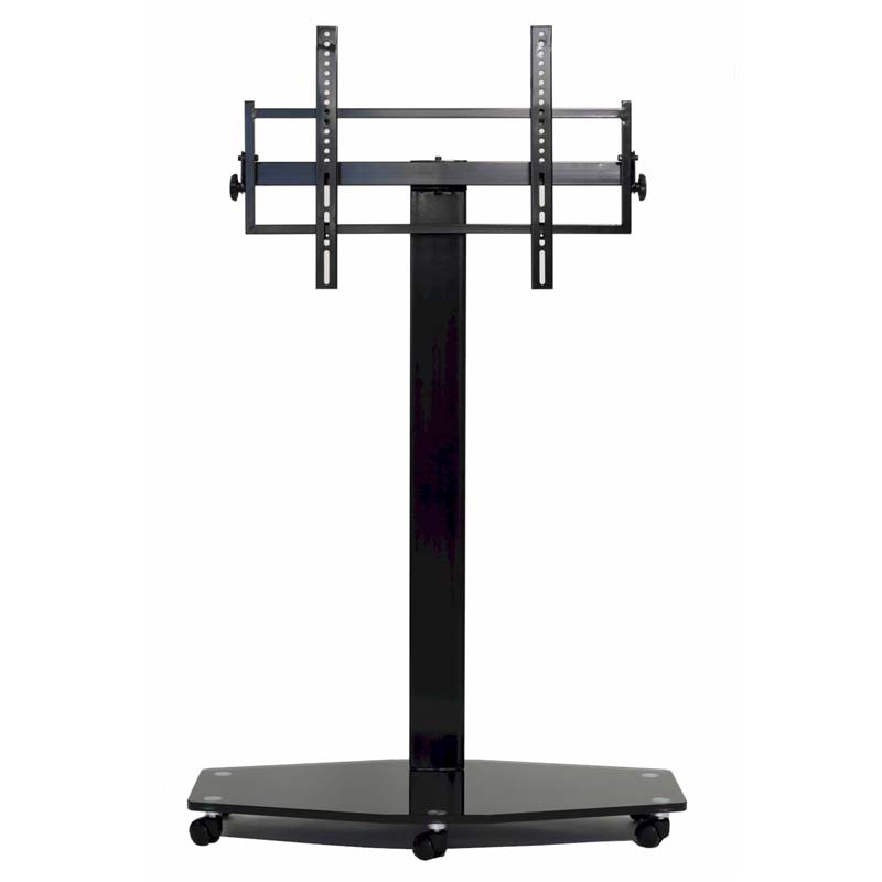 view a larger image of the transdeco 80 inch tv floor pedestal mounting system with casters