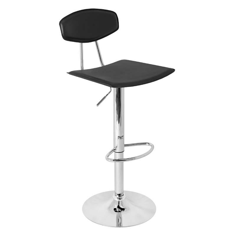 lumisource vector bar stool black bs tw vector bk
