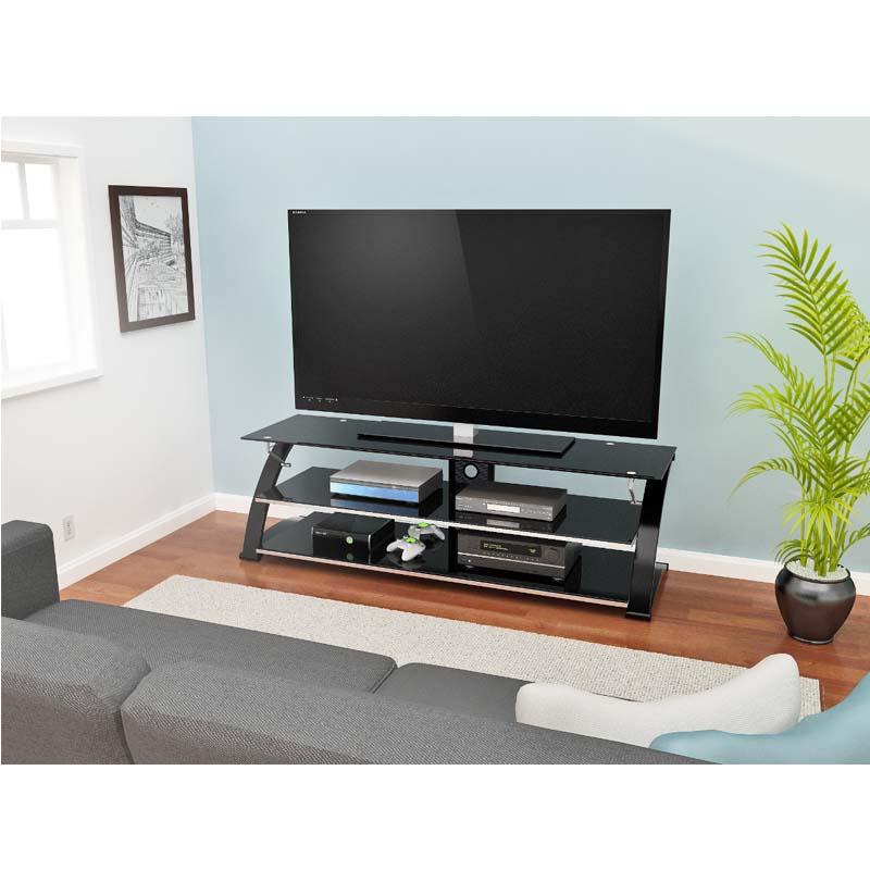 Z Line Designs Vitoria 67 Inch Tv Stand With Black Glass