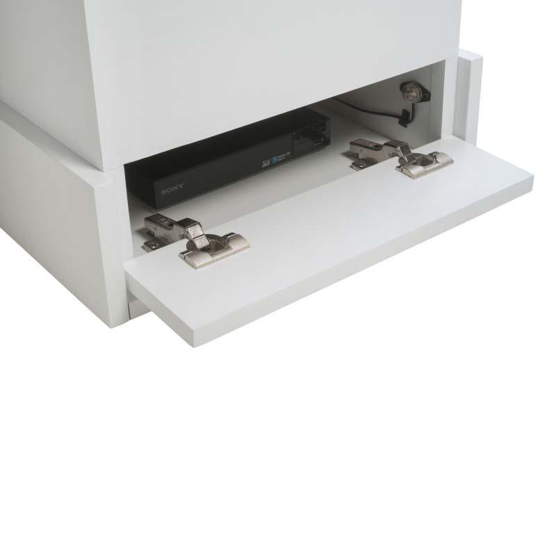 tv lift cabinet azura 360 degree swivel lift white at006791white. Black Bedroom Furniture Sets. Home Design Ideas