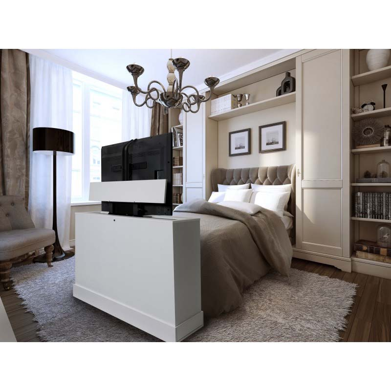 view a larger image of tv lift cabinet azura 360 degree swivel lift white