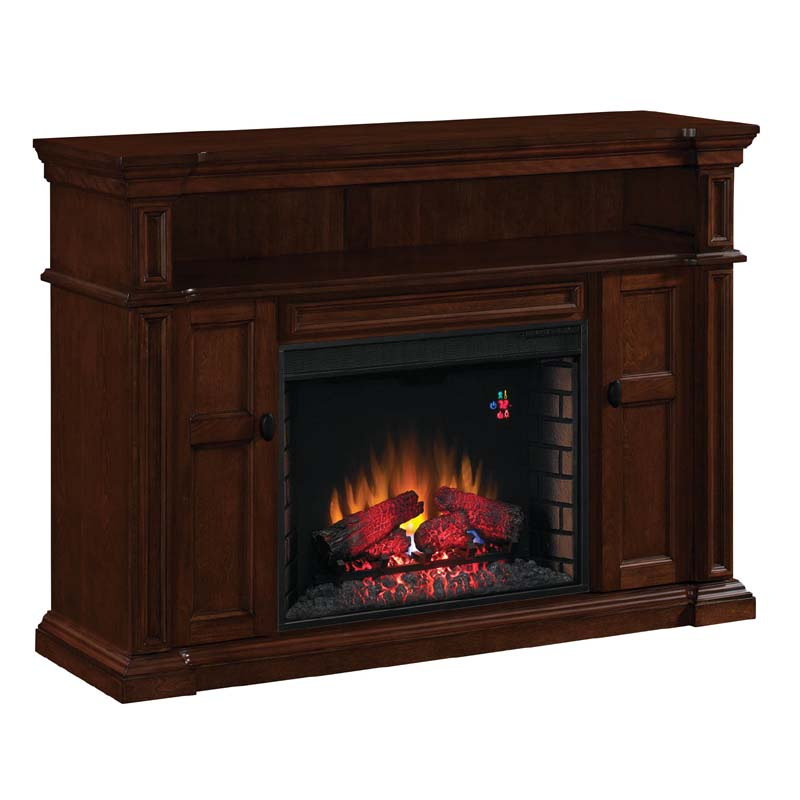 classic flame wyatt 65 inch tv stand with electric fireplace insert mahogany 28mm4684 m313. Black Bedroom Furniture Sets. Home Design Ideas