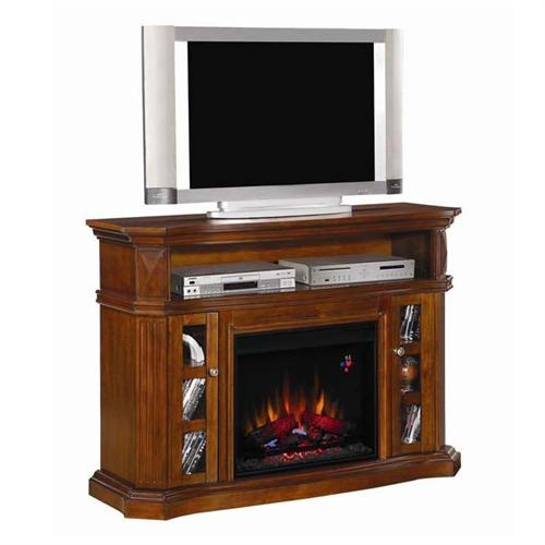 Classic Flame Bellemeade Entertainment Center With Electric Fireplace Insert Walnut 23mm774 W502