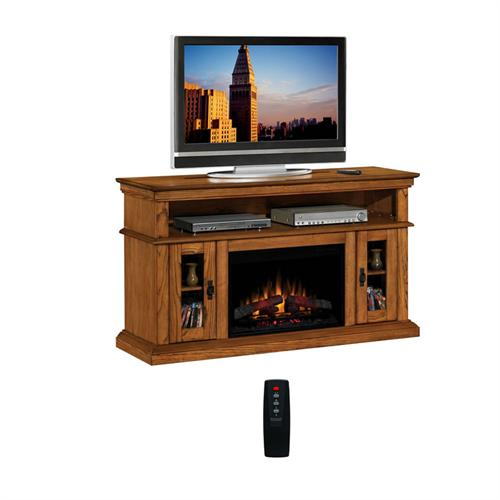 View a larger image of the Classic Flame Brookfield Collection 60 in. Wide Media Mantel Electric Fireplace (Premium Oak) 26MM2209-O107.