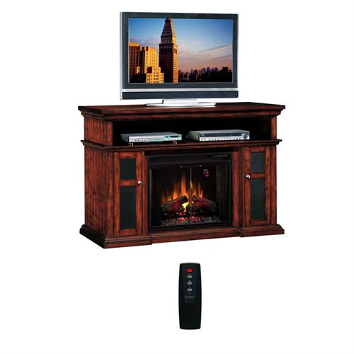 View a larger image of the Classic Flame Pasadena Collection 60 in. Wide Media Mantel Electric Fireplace (Walnut) 28MM468-W502.