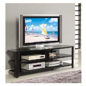 innovex oxford series 70 inch flat screen tv stand black glass tpt65g29. Black Bedroom Furniture Sets. Home Design Ideas