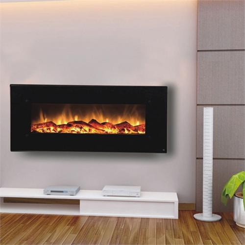 Touchstone 80001 Onyx 50 inch Electric Wall Mounted Fireplace is a beautiful wall mounted electric fireplace with realistic flames and contemporary black frame. All electric fireplaces ship free!