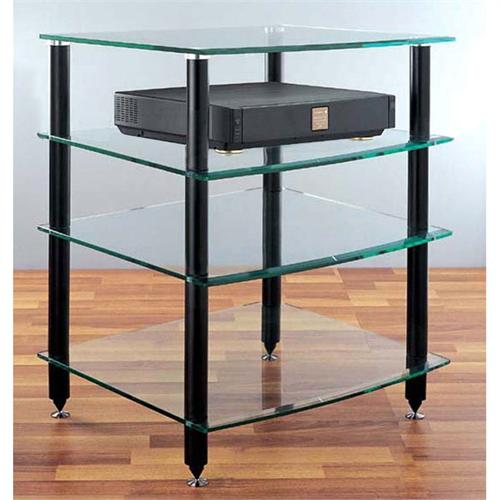 View a larger image of the VTI 4 Shelf Audio Rack with Glass Shelves (Black) AGR404B.